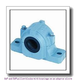 skf SAFS 23048 KA x 8.7/16 SAF and SAW pillow blocks with bearings on an adapter sleeve