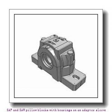 skf SSAFS 22516 x 2.5/8 SAF and SAW pillow blocks with bearings on an adapter sleeve