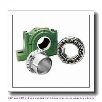 skf SAFS 22516 TLC SAF and SAW pillow blocks with bearings on an adapter sleeve
