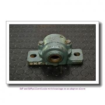skf SAF 22620 x 3.5/16 SAF and SAW pillow blocks with bearings on an adapter sleeve