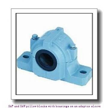 skf SAF 1509 x 1.3/8 SAF and SAW pillow blocks with bearings on an adapter sleeve