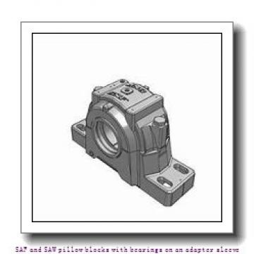 skf SAF 22538 x 7 T SAF and SAW pillow blocks with bearings on an adapter sleeve