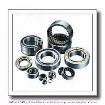 skf SSAFS 22517 x 2.13/16 TLC SAF and SAW pillow blocks with bearings on an adapter sleeve