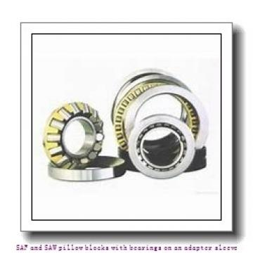 skf FSAF 1615 x 2.1/2 SAF and SAW pillow blocks with bearings on an adapter sleeve