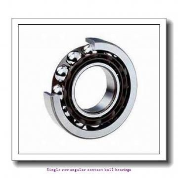 55 mm x 100 mm x 21 mm  skf 7211 BECBM Single row angular contact ball bearings