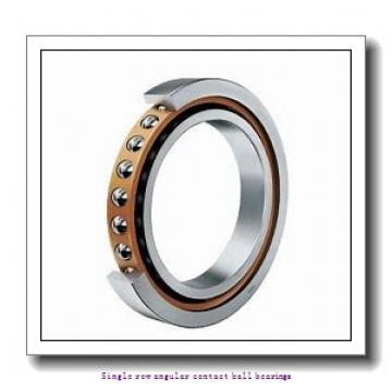 100 mm x 215 mm x 47 mm  skf 7320 BEGAF Single row angular contact ball bearings