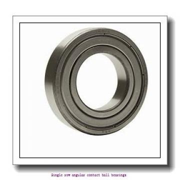 95 mm x 200 mm x 45 mm  skf 7319 BEGAF Single row angular contact ball bearings