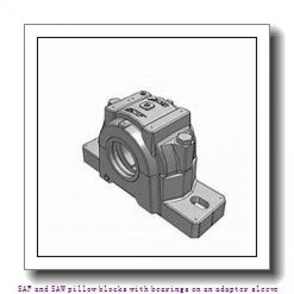 skf SAW 23526 x 4.5/16 SAF and SAW pillow blocks with bearings on an adapter sleeve #1 image