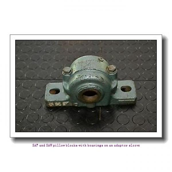 skf SAF 22609 x 1.1/2 SAF and SAW pillow blocks with bearings on an adapter sleeve #1 image