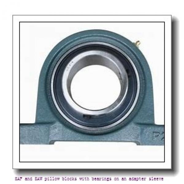 skf SAFS 23038 KAT x 7 SAF and SAW pillow blocks with bearings on an adapter sleeve #1 image