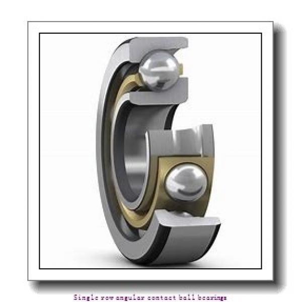 35 mm x 80 mm x 21 mm  skf 7307 BECBY Single row angular contact ball bearings #2 image