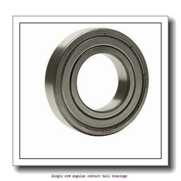 30 mm x 62 mm x 16 mm  skf 7206 BEP Single row angular contact ball bearings #2 image